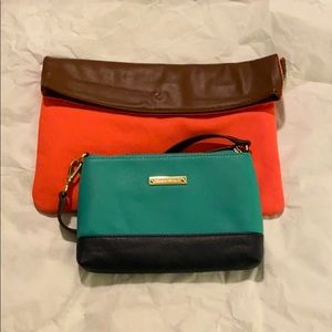 Two small clutch bags